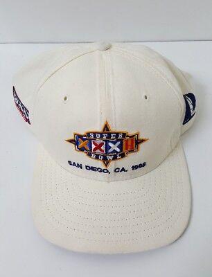 Vintage 90s Superbowl XXXII 32 San Diego Snapback Cap Hat 247 of 1500