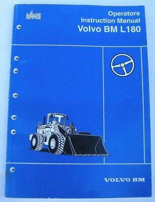 Volvo Bm L180 Wheel Loader Operators Instruction Operation Manual Book Catalog