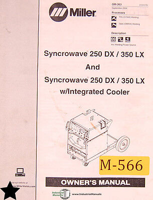 Miller Syncrowave 250dx 350lx Welder Owners Manual
