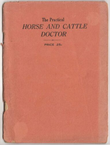 Practical Horse & Cattle Doctor Walsh & Armatage Disease 19th Century Veterinary