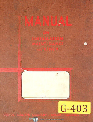 Gisholt No. 3 4 Ram Type Turret Lathe Service Manual 1941