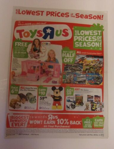 Toys R Us store sales ad, November 28-December 4, 2010