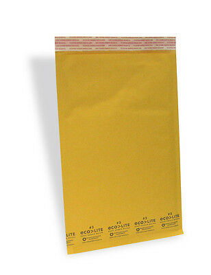200 3 8.5x14.5 Kraft Ecolite Bubble Mailers Padded Envelopes Bags