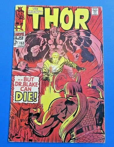 MIGHTY THOR #153 COMIC BOOK ~ 1968 MARVEL SILVER AGE ~ FN+