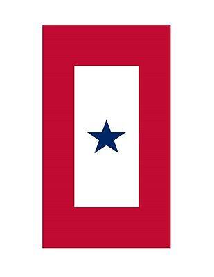 1 Blue Star Service Flag Sticker Die Cut Vinyl Decal (Blue Star Service Decal)