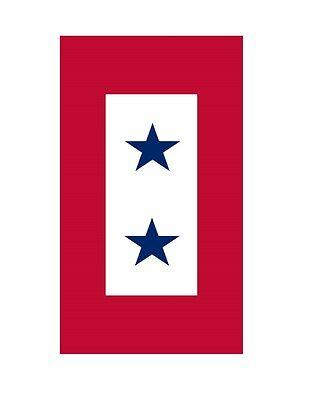 2 Blue Star Service Flag Sticker Die Cut Vinyl Decal (Blue Star Service Decal)