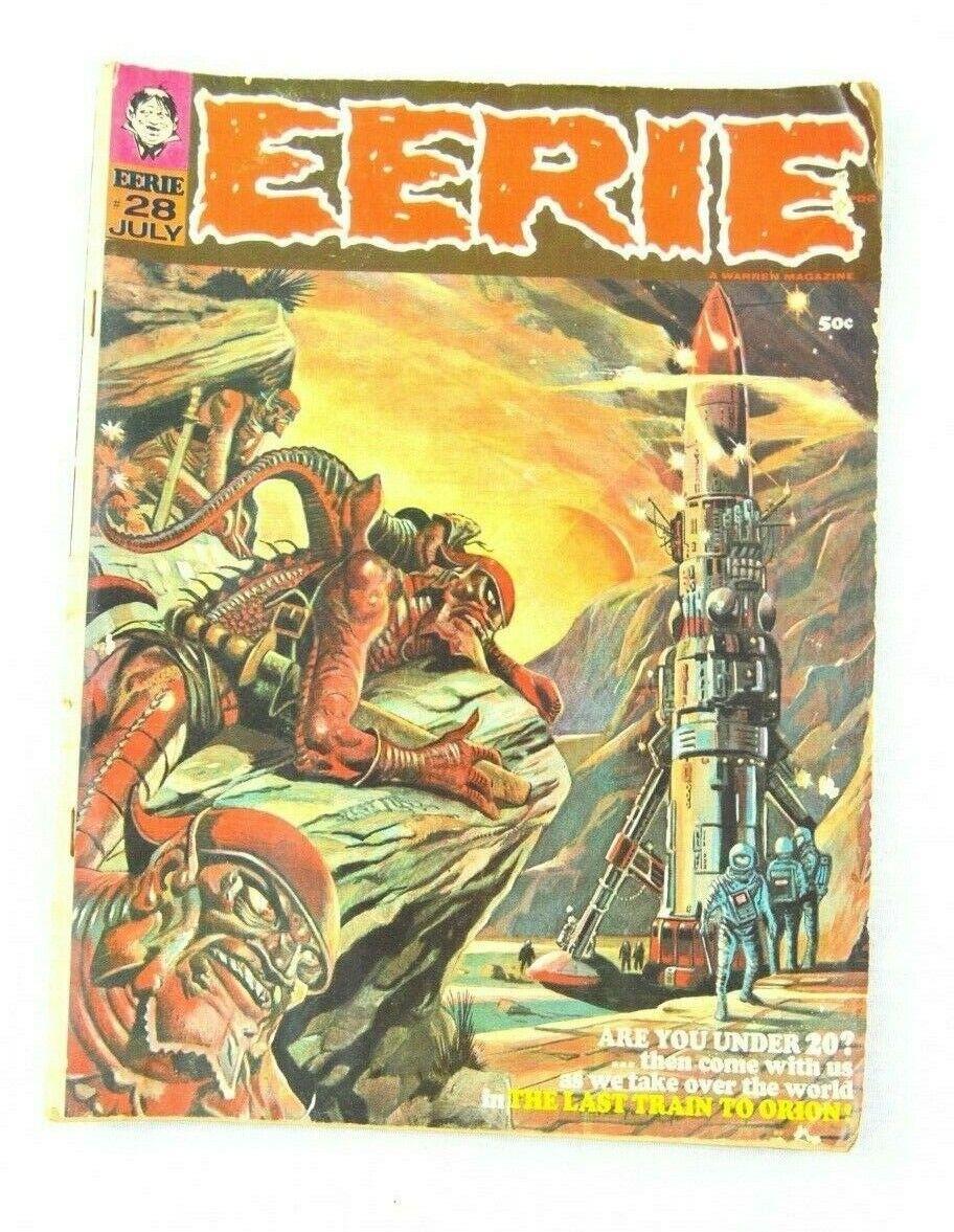 1970 RARE EERIE Train To Orion 28 Magazine Comic Collectible - $8.80