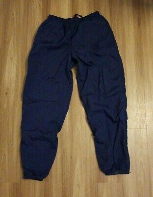 Vintage 90s Men's Nike Nylon Navy Blue Wind Pants Joggers Swoosh Lined  Large L