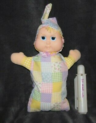 Vintage 1984 Hasbro GLOBABY Glow Baby Light Up Gloworm DOLL Vinyl Plush 12