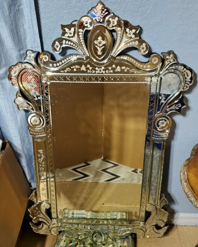 LaBarge Venetian glass mirror LM1973