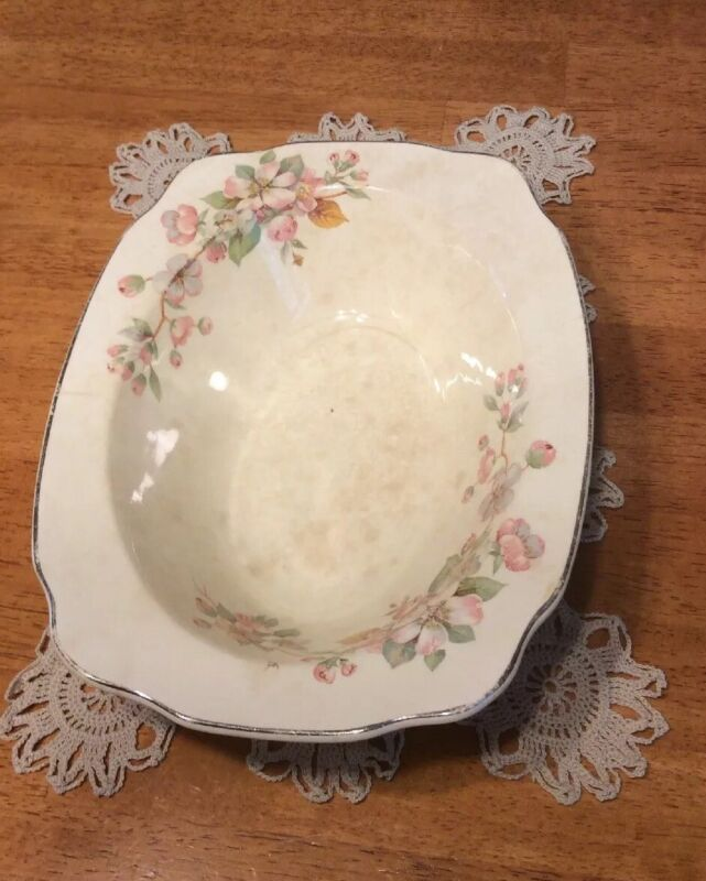 VTG Paden City Pottery Regina -Apple Blossom-1930's Serving Bowl! Gorgeous & Old