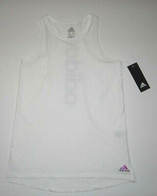 Adidas Girls Youth Racer Back Cotton Blend Tank Tee