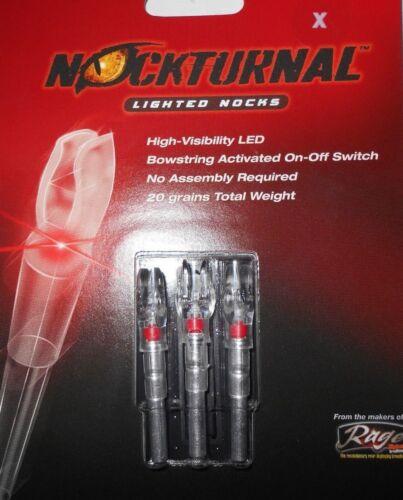 @NEW@ 3-- NOCKTURNAL RED LIGHTED X NOCKS NT-502! Easton Axis Full Metal Jacket
