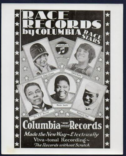 Ethel Waters BESSIE SMITH Barbecue Bob COLUMBIA RACE RECORDS older reprint photo