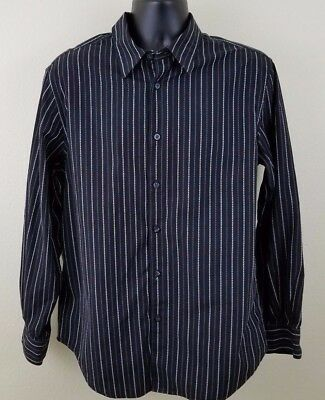 Button-down Woven Dress Shirt (Structure Button Front Shirt Mens Size Large 41-43 Woven Button Down Dress Shirt)