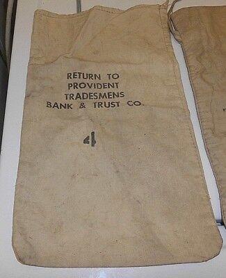 Vintage Cloth Money Bag Used Chemical Bank  55 Water Street  New York  N  Y
