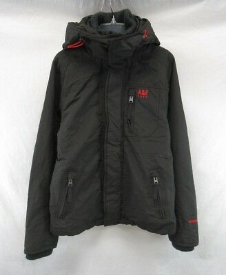 ABERCROMBIE Hooded Fleece Coat Jacket Men's Size M #E512