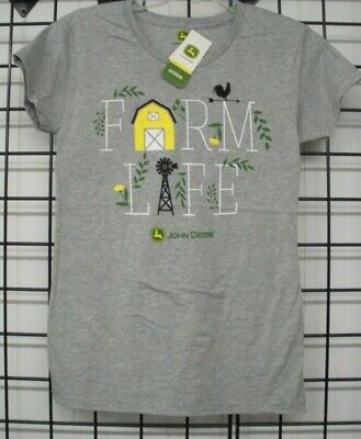 John Deere Women's T-Shirt, John Deere Ladies Short Sleeve T 23005509. - Short Sleeve Deer
