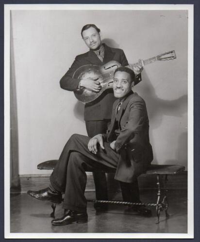 Scrapper Blackwell & Leroy Carr BLUES SINGER guitarist pianist OLD REPRINT PHOTO