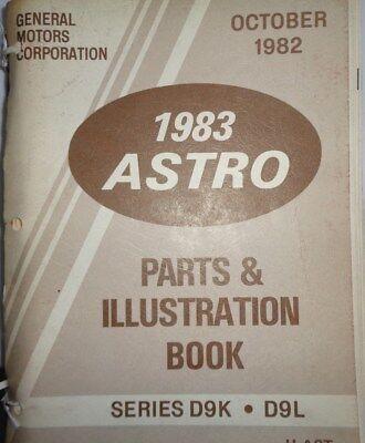 1983 GMC Astro Heavy Duty Truck Parts Book Catalog Manual D9K D9L 1983 Gmc Truck Parts