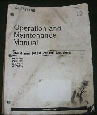 Cat Caterpillar 950k 962k Wheel Loader Operation Maintenance Manual Book