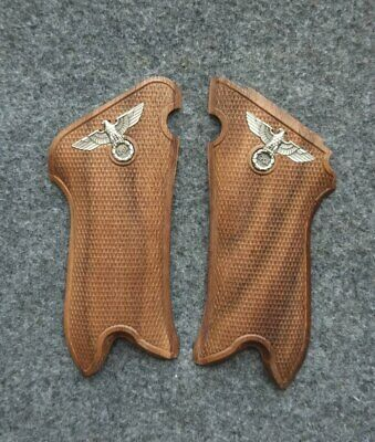 luger p08 walnut Wood grips Roman Imperial symbolism