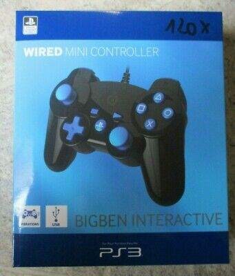 BIGBEN Interactive Wired Mini Controller USB PlayStation3 PS3 Kabel 2M Vibration