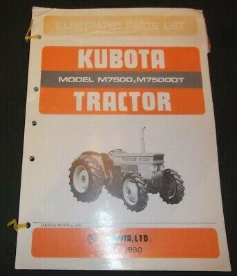 Kubota M7500 M7500dt Tractor Parts Manual Book Catalog Oem Original
