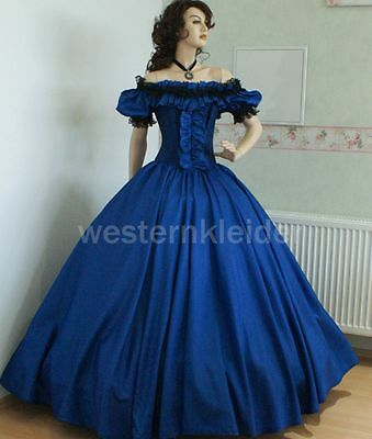 Westernkleid Sissi Biedermeierkleid Südstaatenkleid Civil War Kleid KT245 online kaufen