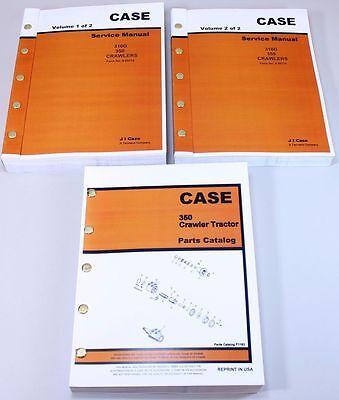 Case 350 Crawler Tractor Dozer Service Repair Manual Parts Catalog Shop Books