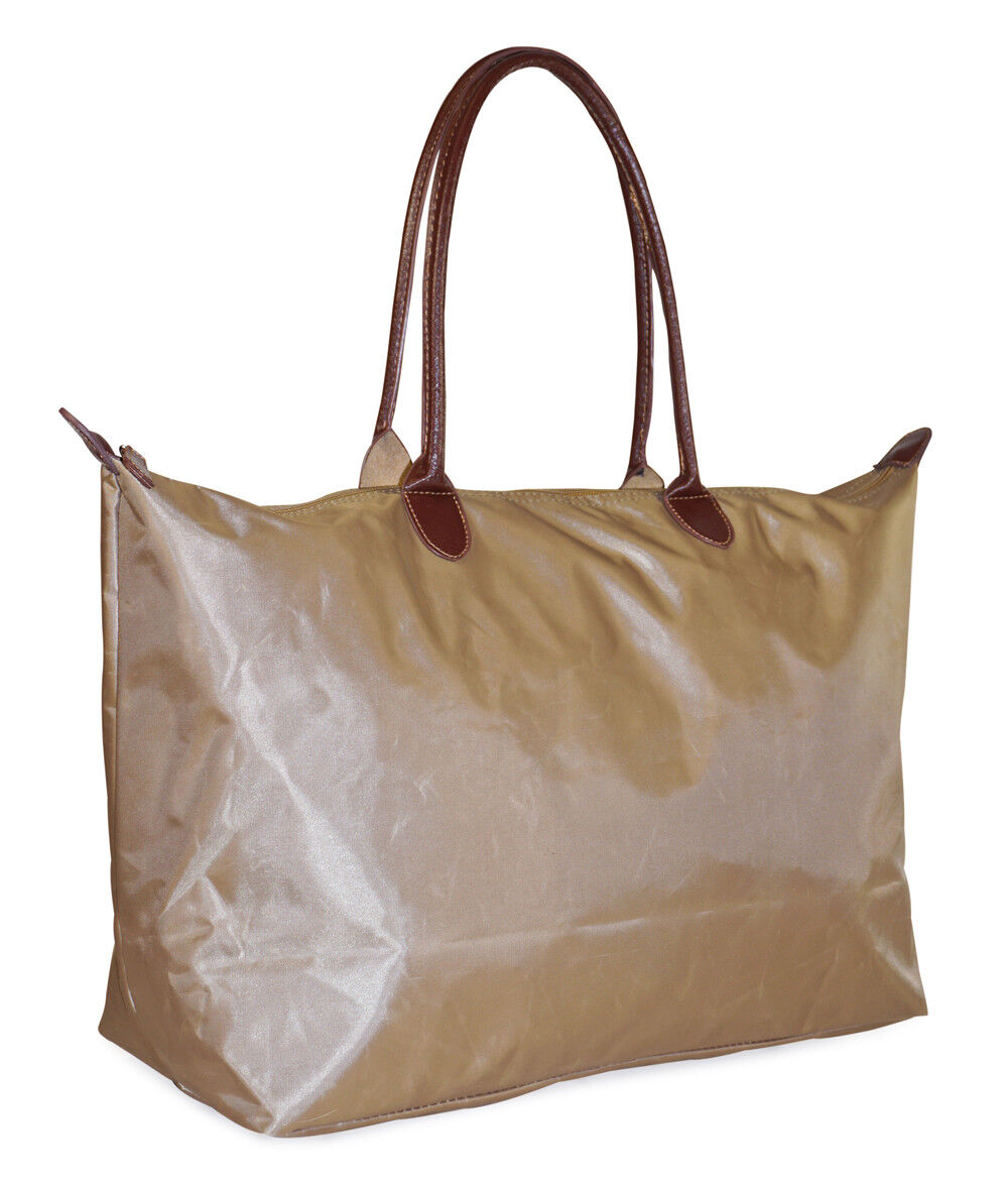 db93eeef6 Tan Overnight Travel Tote Bag Extra Large XL Womens Ladies C