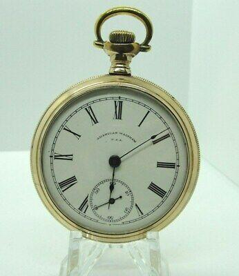 1902 Waltham 17j 18s Model 1883 Grade PS Bartlett Open Face Pocket Watch