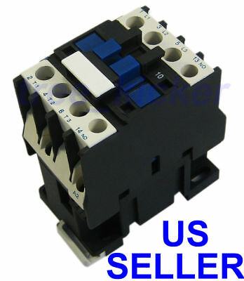 New Ac Contactor Motor Starter Relay 3-phase Pole 18a Up To 14hp 240v Coil