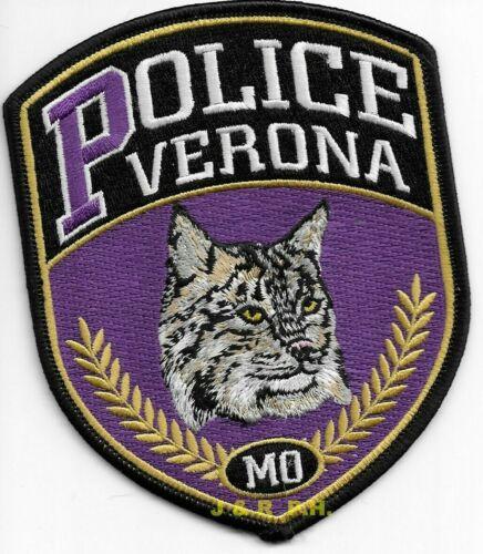 "Verona, Missouri  ""Bobcat - n/s"" (4"" x 5"" size) shoulder police patch (fire)"