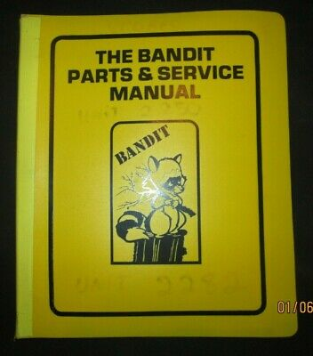 Bandit Brush Chipper Model 150 200 Operators Parts Service Manual Original