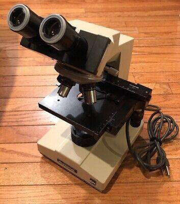 Olympus Ch Binocular Microscope W 4x 10x40x100x Objectives 10x Eyepieces