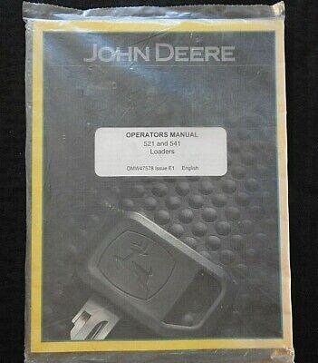 John Deere 5200 5210 5300 5310 5510 5410 Tractor 521 541 Loader Operator Manual
