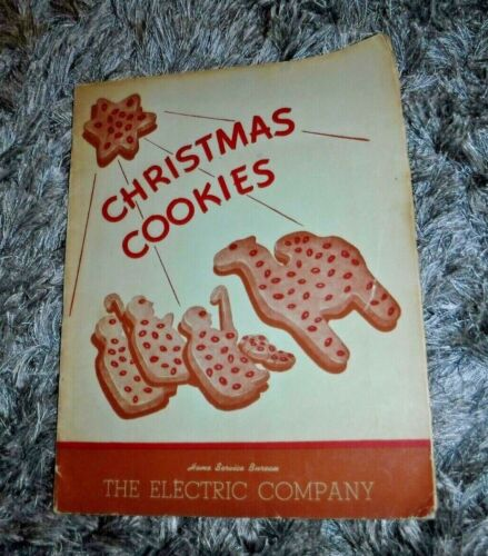 THE ELECTRIC COMPANY CHRISTMAS COOKIES BOOKLET RECIPES WISCONSIN VINTAGE 1945