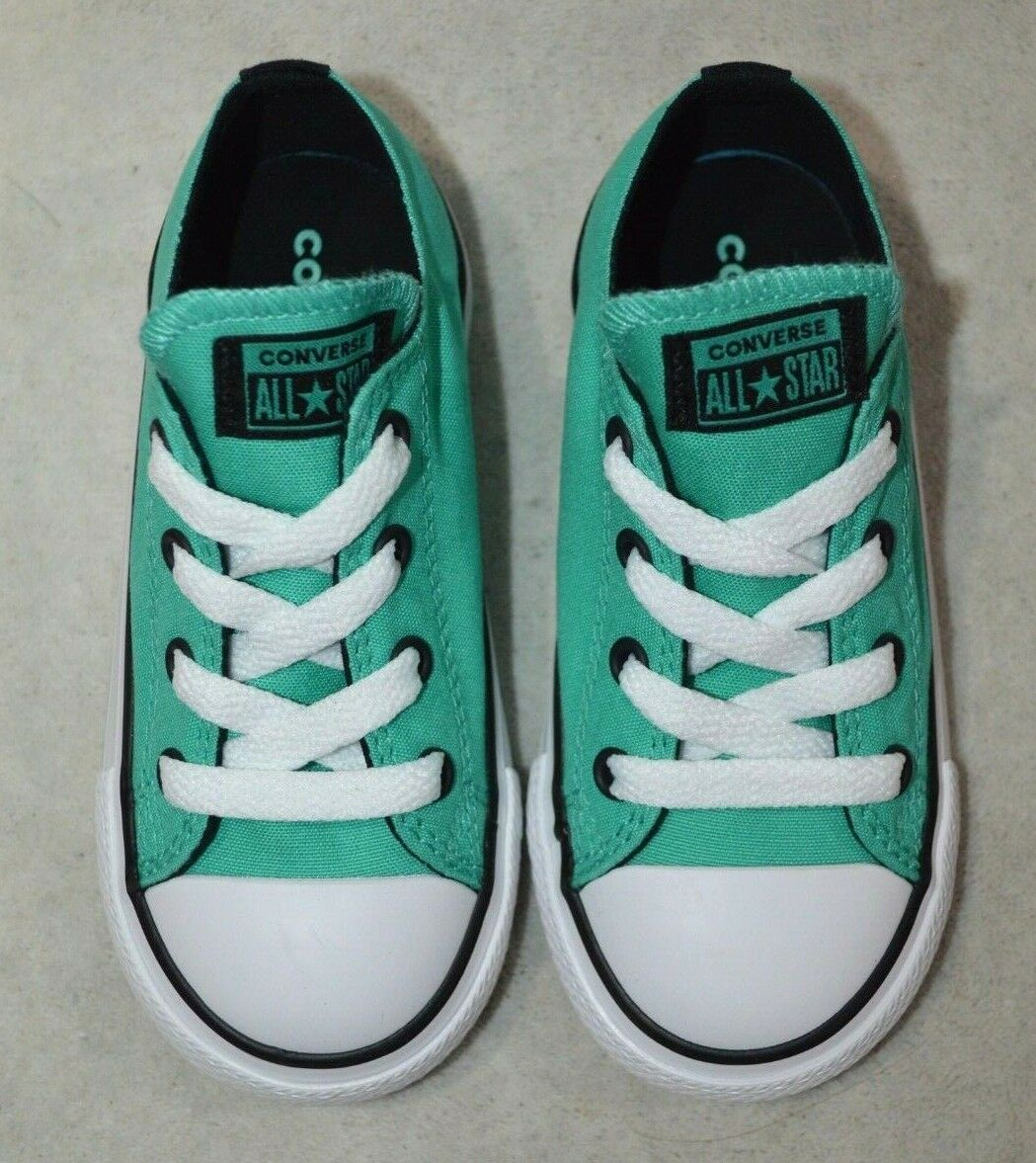 Converse® All Star CT OX P-Teal/Black/White Toddler Girl's Shoes- 6/7/8/9/10 NWB 1