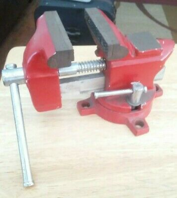 Vintage 3 12 Bench Vise With Anvil Swivel Base Pipe Jaws - Lightly Used
