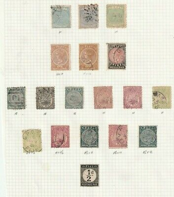 STAMPS FIJI 1878-97  SELECTION OF 18 USED    == VALUE