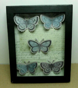 John Derian For Target Framed Shadow Box Erfly Decoupage Journal Text