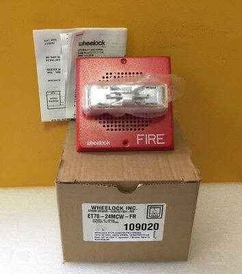 Wheelock Et70-24mcw-fr 109020 16 To 33 Vdc Speaker Strobe. New In Box