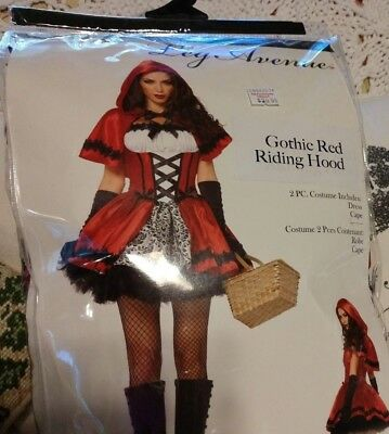 ding Hood Red Size M  Halloween Party Costume Role Play EUC (Little Red Riding Hood Gothic)