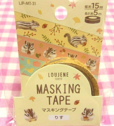 LOUJENE TOKYO / Autumn Squirrel Yellow Washi Paper Masking Tape / Japan