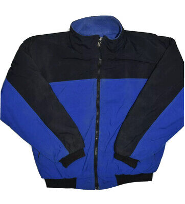 Vintage The North Face Jacket Mens Size M Blue Fleece Lined USA Made Full Zip