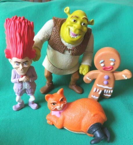 SHREK toy lot figures GINGY RUMPELSTILSKIN PUSS BOOTS McDonalds happy meal toys