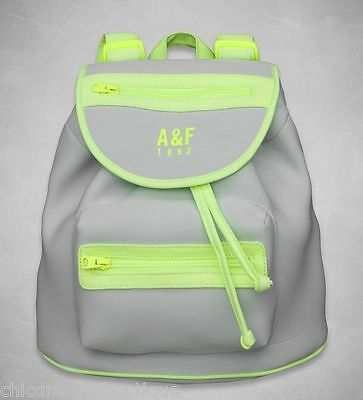NWT A&F ABERCROMBIE & FITCH SPORTY  NEOPRENE BACKPACK BOOKBAG $78