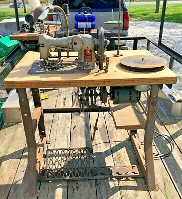 N.c Carpet Binder Industrial Sewing Machine With Table Runs Strong