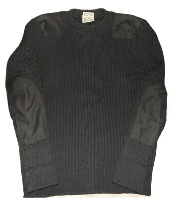 LL Bean Shooting Sweater Mens XLG Long Wool W/ Elbow Shoulder Patches VTG